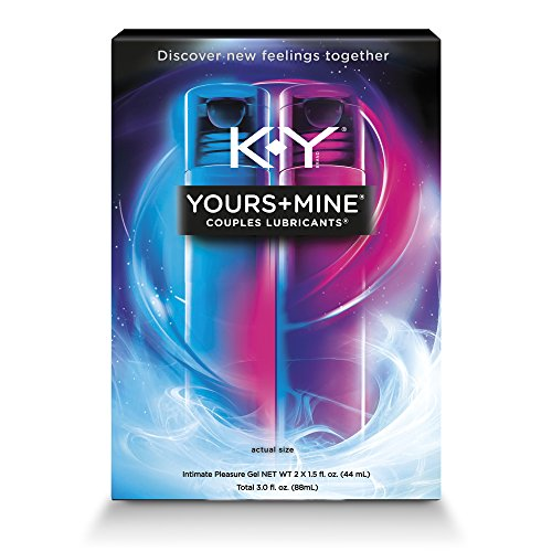 K-Y Yours & Mine Couples Lubricant, 3 oz, Lube for Him and Her by K-Y