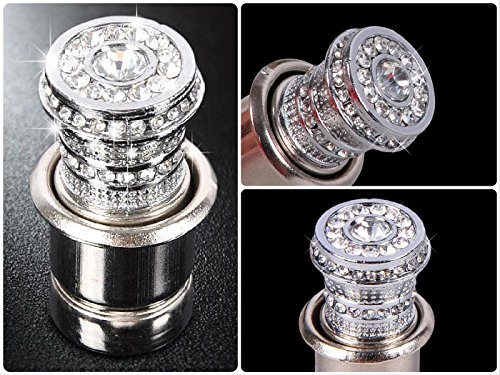 Bling Car Decor Crystal Car Cigarette Lighter 12V, Car Bling, Car Accessories, Rhinestone Auto Interior Accessory, Car Charger Decoration
