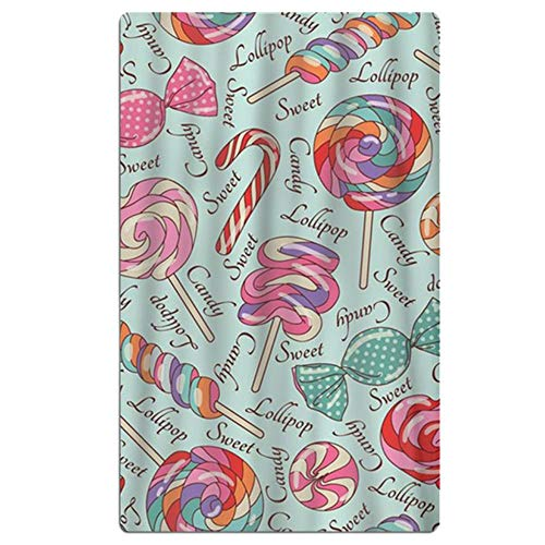HSIGSA Microfiber Beach Towels for Travel - Quick Dry,Travel Beach Towel in Designer Lollipop Pattern,Travel, Cruise, Outdoor, Gifts for Unisex -