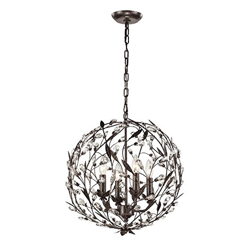 Elk Lighting 18134/4 Circeo Collection 4 Light Pendant, Deep (Garden District Collection)