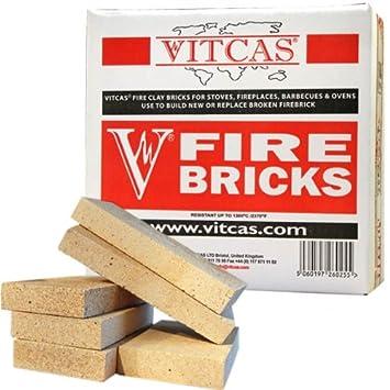 VITCAS - 6 ladrillos refractarios de repuesto para estufas y chimeneas: Amazon.es: Hogar