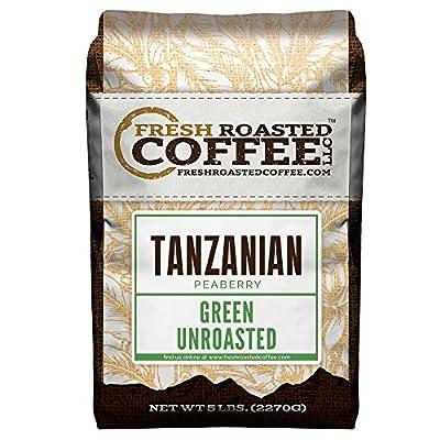 Green Unroasted Coffee, 5 Lb. Bag, Fresh Roasted Coffee LLC.