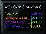 MasterVision Wet Erase Board, 24'' x 36'' with Black Kamashi Frame