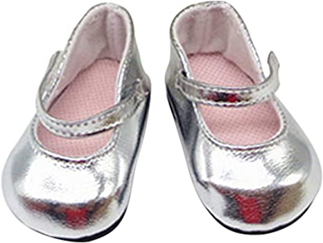 Zeagro 1 Pair Doll Shoes Accessories for 18 inch American Girl Doll Gift