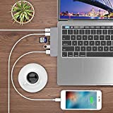 USB-C Hub Type-C Dual Hub Adapter for MacBook Air 2016-2019 iMac/Pro 2017 2018 and Others 7in2: USB-C 100W PD USB-C 40Gbps Data 4K HDMI microSD/SD Card Reader 2 x USB 3.0 - Dark Grey