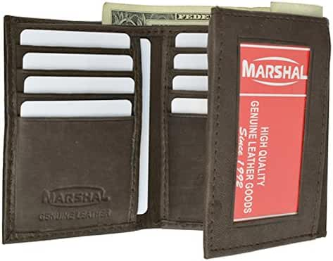 100% Genuine Leather Marshal Tri-fold Mens Walle