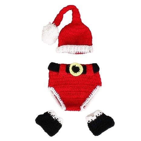 Toyvian Traje de Papá Noel de Bebé de Crochet Ropas de ...