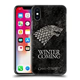 Official HBO Game Of Thrones Stark Dark Distressed Sigils Hard Back Case for Apple iPhone X