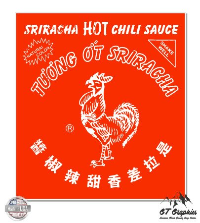 Sriracha Hot Sauce Sticker Waterproof product image