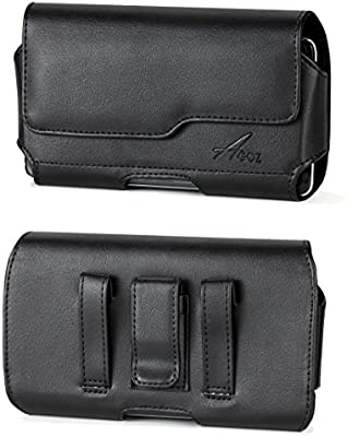 e5f0b8a83 Agoz Carrying Case for Apple iPhone Xs MAX, iPhone XR, 8 Plus, iPhone 7 Plus,  iPhone 6S Plus, 6 Plus Premium Leather Pouch Holster Cover W/Belt Clip  Loops ...