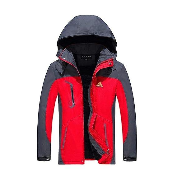 db41188339 Veste d'hiver Manteau pour Hommes Veste Fonctionnelle Veste Vêtements De Ski  À Manches Longues Manteau Chaud De Randonnée en Plein Air Veste d'escalade  De ...