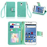 IZENGATE(TM) Executive Premium PU Leather Wallet Flip Case Cover Folio for Samsung Galaxy S2 SII T989 Hercules T-Mobile (Mint)