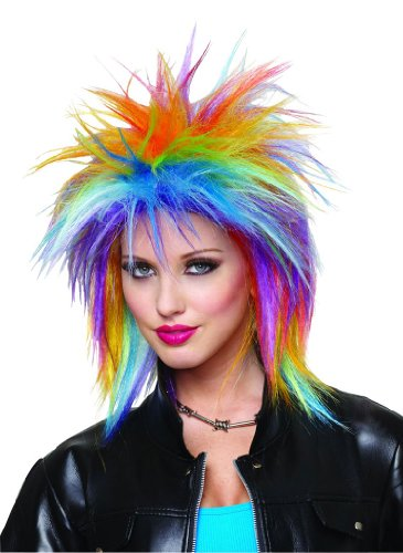 [Rainbow Spiky Wig] (Rainbow Spiky Wig)