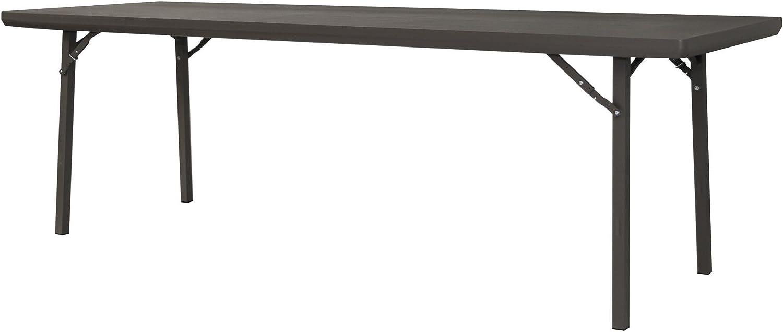 Zown Premium Commercial 96 8 Ft Rectangular Blow Mold Banquet Folding Table Brown Furniture Decor
