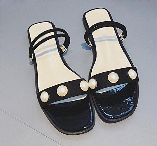 De Deslizadores Sandalias Las Los Aire Femenina Hembra Zapatillas Verano Y Forma Libre Black Una Zapatos Perla Mujeres Al Planas SwBwdq