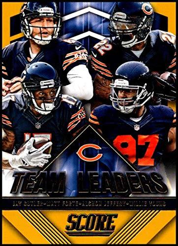 2015 Panini Score Team Leaders Gold #16 Alshon Jeffery/Willie Young/Jay Cutler/Matt Forte Bears Football Card NM-MT