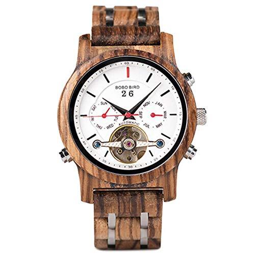 Men's Tourbillon Automatic Mechanical Watch, Waterproof Sports Business Watch, Calendar Display, Mineral Tempered Glass Mirror, Double Snap,002 ()