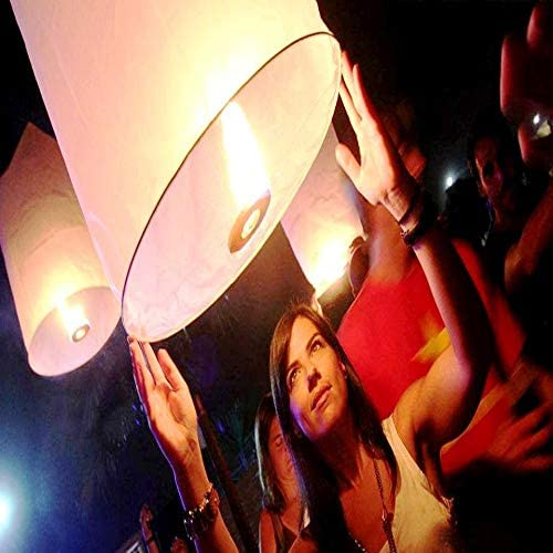 Farolillos voladores cilíndricos Tailandeses pack 10 und: Amazon.es: Iluminación
