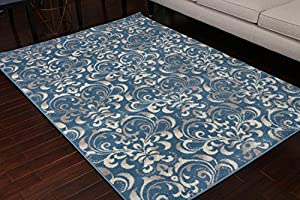 Amazon Com Paris Collection Oriental Carpet Area Rug Blue
