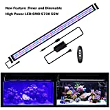 """JOYHILL LED Aquarium Lights with Timer, Dimmable,Super Bright LEDs Fish Tank Light for Aquatic Reef Coral Plants,Full Spectrum for 60""""-72"""" Tank"""