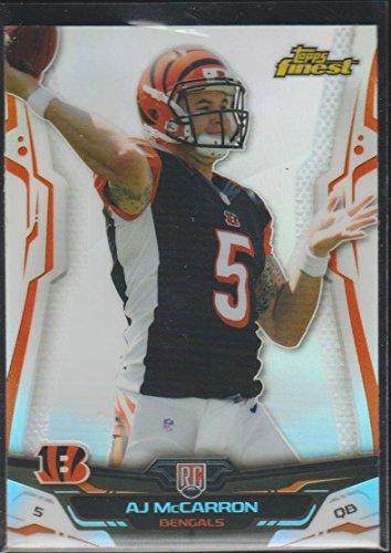 (2014 Topps Finest A.J. McCarron Bengals Rookie Football Card #147)