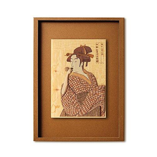 KINOWA Ukiyoe Art Kit Kiharie Poppen O Fuku Musume Made in Japan