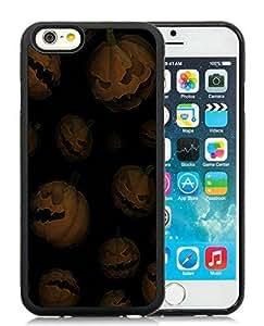 Custom Case Cover For Apple Iphone 5C Halloween Pumpkins Black Hard Case 1