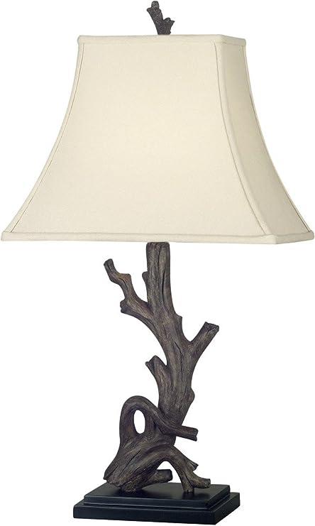 Kenroy Home 21049WDG Drift Table Lamp, Wood Grain