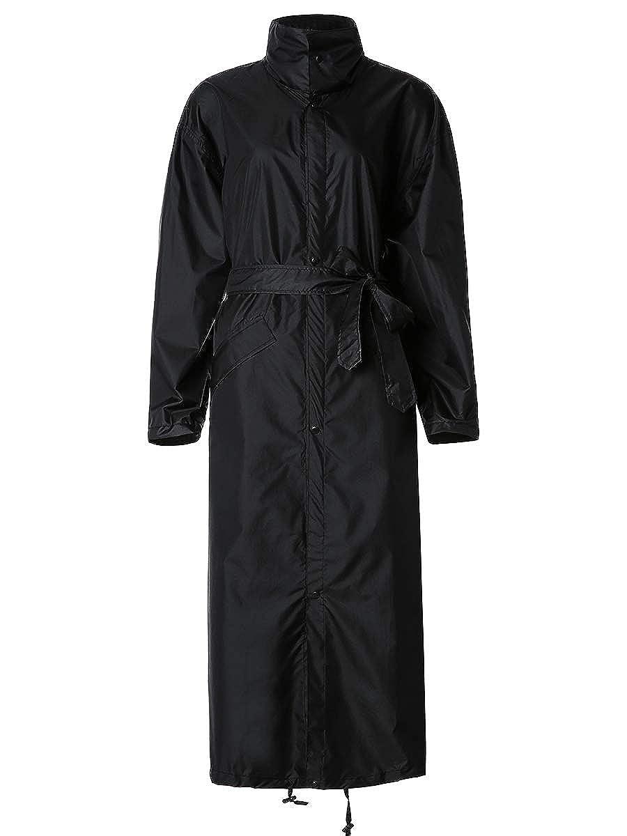 SiYang レインポンチョ ジャケット コート 大人用 フード付き防水 ファスナー付き アウトドア B07GWHT6Q6 Black-jacket Black-jacket