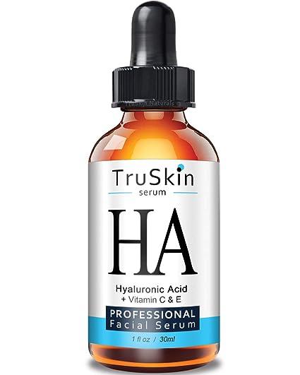 TrueSkin Naturals El suero de ácido hialurónico para la piel y la cara con la vitamina