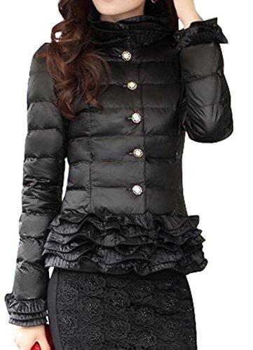 Solid Color Coat Outerwear Black - 5