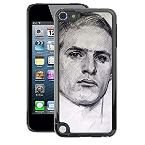 A-type Arte & diseño plástico duro Fundas Cover Cubre Hard Case Cover para Apple iPod Touch 5 (Portrait Man Sports Drawing Painting)