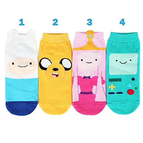 Socksense Animation Character Disney Series Women's Original Socks (Adventure Time(Full)_4pairs) by Kiss socks (Image #1)