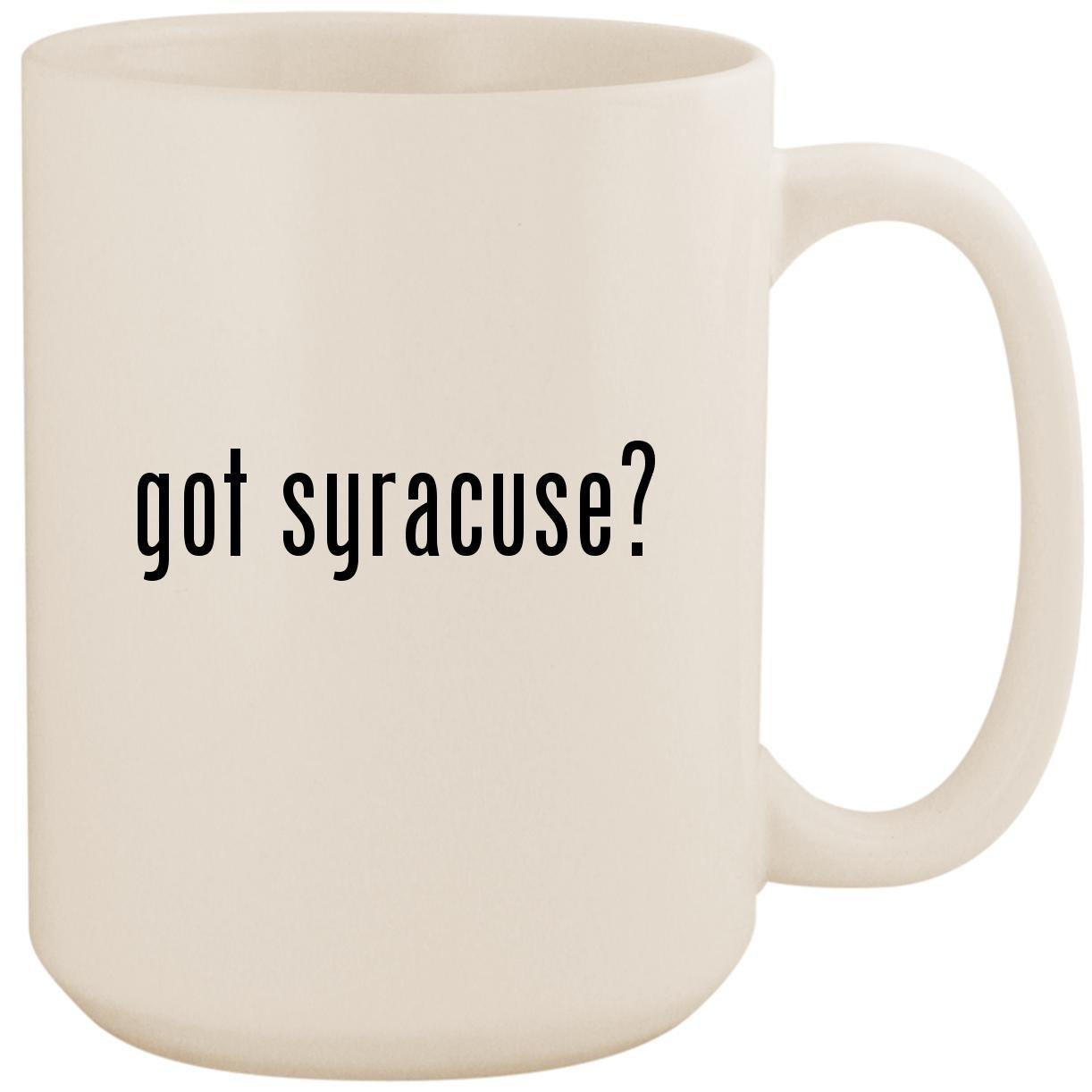 got syracuse? - White 15oz Ceramic Coffee Mug Cup