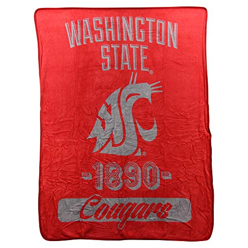 (The Northwest Company NCAA Collegiate Varsity Super Soft Plush Throw Blanket (Washington State Cougars))