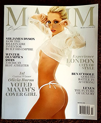 Maxim Magazine (January/February, 2018) Olivia Burns Cover