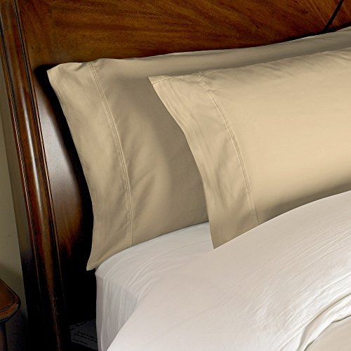 (eLuxurySupply 1000 Thread Count Pillowcases | 100% Egyptian Cotton 2-Piece Pillowcase Set | 4 Inch Hem King Solid)