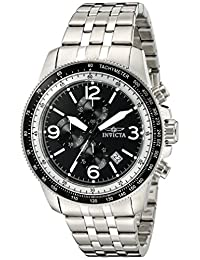 Invicta Men's 'Specialty' Quartz Stainless Steel Automatic Watch, Silver-Toned (Model: 13960)