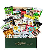Snack Attack Vegan Snacks Care Package - Plant-Based Vegan, Gluten Free, Dairy Free, Non-GMO Cookies, Bars, Chips, Puffs, Fruit & Nuts [32 Count],