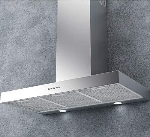 P7 900 - Campana extractora de cocina (90 cm, montaje en pared, acero inoxidable): Amazon.es: Grandes electrodomésticos