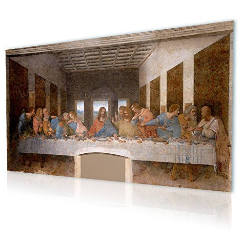 Alonline Art - The Last Supper Leonardo Da Vinci PRINT On CANVAS (Synthetic, UNFRAMED Unmounted) 22