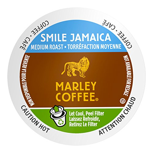 Marley Coffee Smile Jamaica, Medium Roast, Single Serve, 24 Count Blue Mountain Sweet Coffee