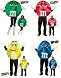 Adult Sized M&M Deluxe Costume - Red Green Blue Yellow - M & M - Foodie