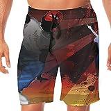 Men's Swim Trunks Hip Hop Cartoon Quick Dry Beachwear Sports Running Summer Beach Board Shorts Vacation Surfing Bathing Suit