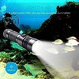 Abom Pro Diving Flashlight Kit, 1000 Lumen Bright