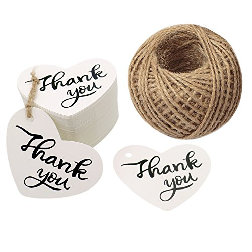 - Original Design Happy Father's Day Gift Tags,100PCS Thank You Tags 2.6