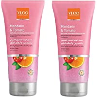 VLCC Mandarin & Tomato Natural Fairness Face Wash 2 X 2 X 150 ml, Pack of 1