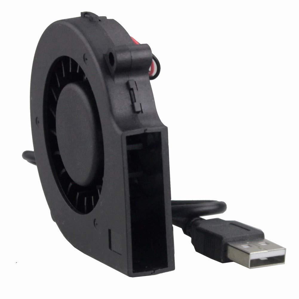 GDSTIME 75mm USB Fan, 75mm x 15mm Blower Fan, 5V DC Brushless Cooling Fan