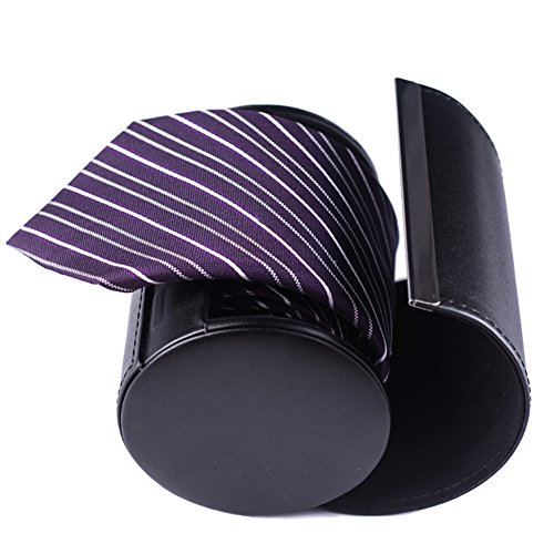 Silk Necktie Mens Handmade Striped ties gift boxes purple white eggplant extra long