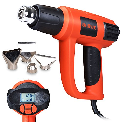 DuRyte Pro LCD Display Heat Gun with Precise Electronic Temperature Control 120°F to 1200°F